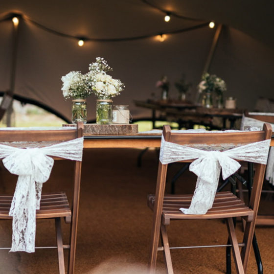 Afon Events Furniture from a wedding